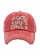 Good Vibes Only Baseball Hat inset 2
