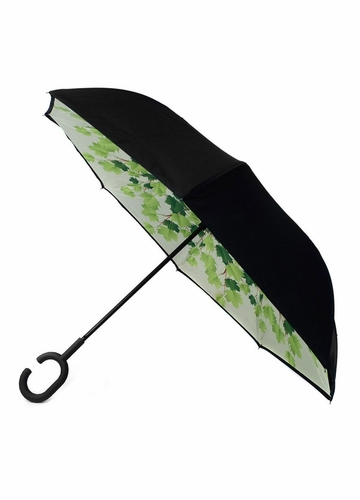 Green Leaves Inverted Stand-Up Umbrella