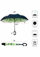 Green Leaves Inverted Stand-Up Umbrella inset 3