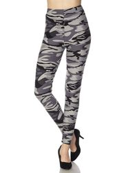 Grey Camo Peach Skin Leggings
