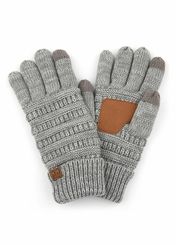 Grey Two Tone Smart Tip CC Gloves with Lining