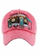 Happy Camper Baseball Hat with Leopard Lining inset 3