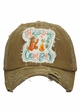 Happy Camper Bear and Fireflies Baseball Hat inset 1