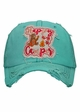 Happy Camper Bear and Fireflies Baseball Hat inset 2