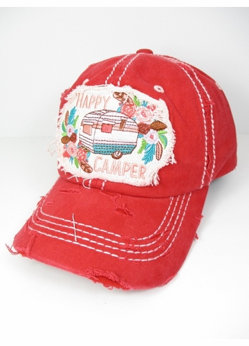 Happy Camper Boho Baseball Hat