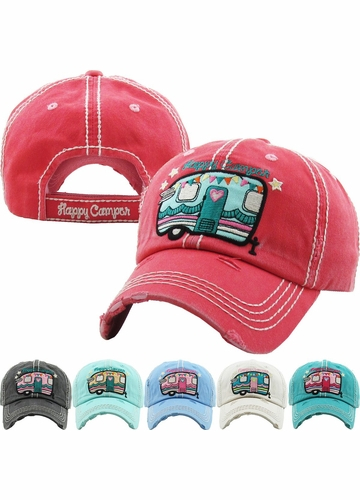 Happy Camper Cutie Pie Baseball Hat