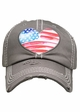 Heart Flag Patch Baseball Hat inset 1