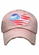 Heart Flag Patch Baseball Hat inset 2