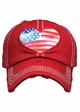 Heart Flag Patch Baseball Hat inset 4
