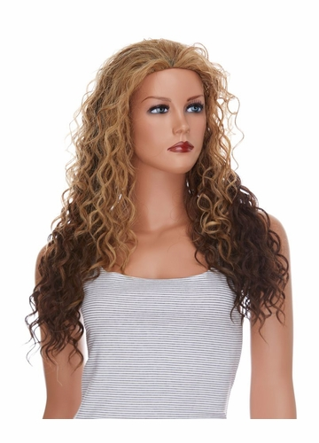 Heat and Styling Friendly Curly 3/4 Wig Naya