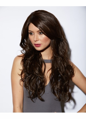 Heat and Styling Friendly Long Hair Cala Wig in Brown