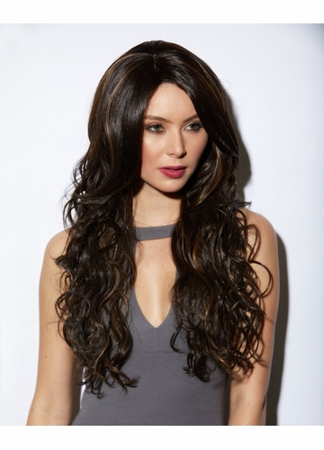 Heat and Styling Friendly Long Hair Cala Wig in Choclate Swirl