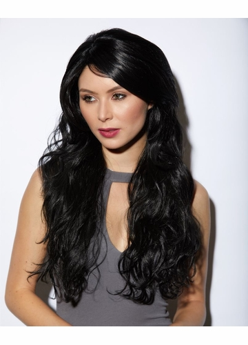 Heat and Styling Friendly Long Hair Cala Wig in Onyx Black