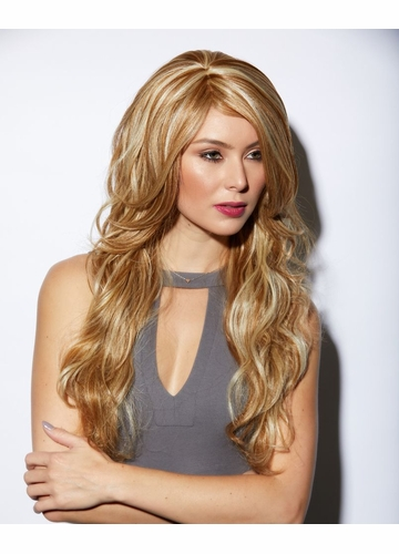 Heat Friendly Long Hair Cala Wig in Frosted Blonde