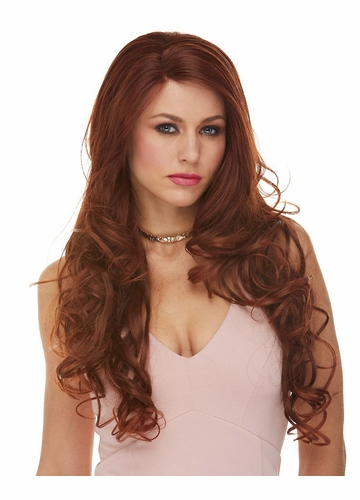 Heat Safe Lace Front Wig Holiday with Long Glamour Curls
