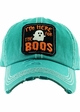 HERE FOR THE BOOS Washed Vintage Ballcap  inset 1
