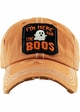 HERE FOR THE BOOS Washed Vintage Ballcap  inset 3