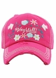 Hey Yall in Bloom Baseball Hat inset 1