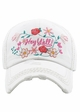 Hey Yall in Bloom Baseball Hat inset 2
