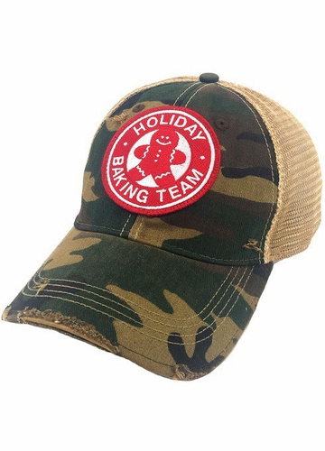 Holiday Baking Team Camo Baseball Hat