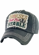 HORSES KEEP ME STABLE Vintage Baseball Hat inset 1