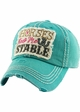 HORSES KEEP ME STABLE Vintage Baseball Hat inset 2