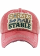 HORSES KEEP ME STABLE Vintage Baseball Hat inset 3