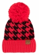 Houndstooth Pattern CC Hat with Pom inset 1