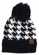 Houndstooth Pattern CC Hat with Pom inset 2
