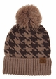 Houndstooth Pattern CC Hat with Pom inset 3