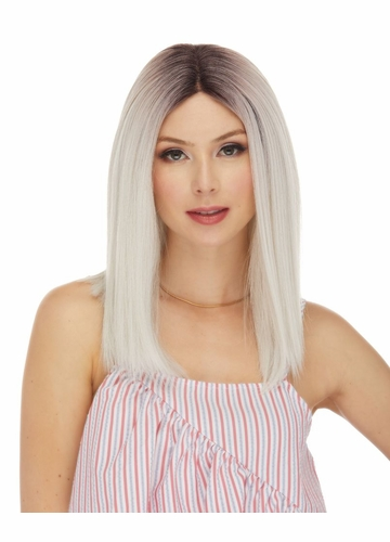 Human Hair Blend Lace Front Wig Dove