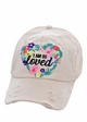 I Am So Loved Trucker Baseball Hat inset 2