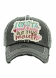 I GOTTA GOOD HEART BUT THIS MOUTH Washed Vintage Ballcap inset 2