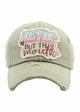 I GOTTA GOOD HEART BUT THIS MOUTH Washed Vintage Ballcap inset 4
