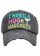 I Need a Huge Margarita Washed Vintage Baseball Cap inset 4