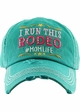 I RUN THIS RODEO #MOM LIFE Washed Vintage Ballcap inset 1
