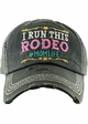 I RUN THIS RODEO #MOM LIFE Washed Vintage Ballcap inset 2