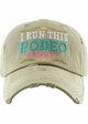 I RUN THIS RODEO #MOM LIFE Washed Vintage Ballcap inset 3
