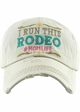 I RUN THIS RODEO #MOM LIFE Washed Vintage Ballcap inset 4