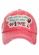 I You Can Read This Bring Me Some Wine Baseball Hat inset 2