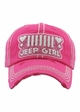 Jeep Girl Vintage Wash Baseball Hat inset 1