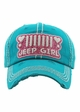 Jeep Girl Vintage Wash Baseball Hat inset 2