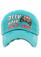 Jeep Hair Don't Care Baseball Hat inset 2