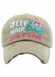 Jeep Hair Don't Care Baseball Hat inset 3