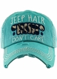 Jeep Hair Don't Care Leopard Baseball Hat inset 1