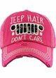 Jeep Hair Don't Care Leopard Baseball Hat inset 2