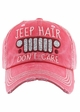 JEEP HAIR DON'T CARE Washed Vintage Baseball Cap inset 2