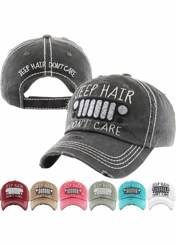 JEEP HAIR DON'T CARE Washed Vintage Baseball Cap