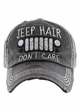 JEEP HAIR DON'T CARE Washed Vintage Baseball Cap inset 3