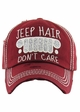 JEEP HAIR DON'T CARE Washed Vintage Baseball Cap inset 4